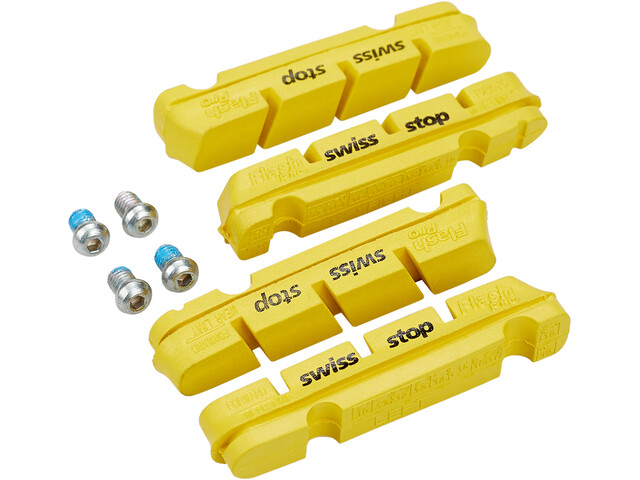 SwissStop FlashPro Remblokken voor Shimano/SRAM Carbon, yellow